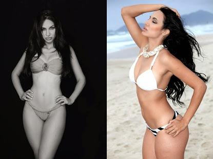 Ragazze brasiliana bikini tanga spiaggia